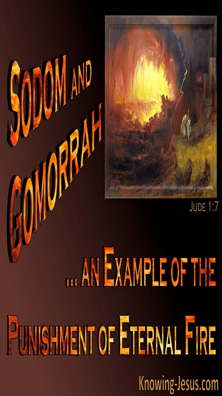 Jude 1:7 Sodom And Gomorrah Example Of Eternal Punishment (orange)